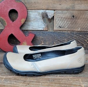 Durable Keen Tan Leather Slip On Shoes Size 8
